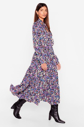 Nasty Gal Womens Grow Big or Grow Home Floral Maxi Dress - Pink