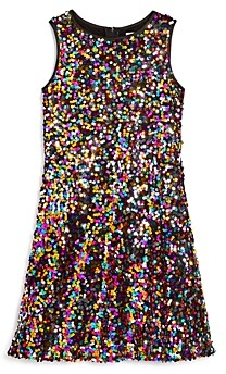 Us Angels Girls' Sequined Sleeveless Dress - Big Kid