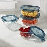 Crate & Barrel Evolution ® 4-Piece Glass Storage Set