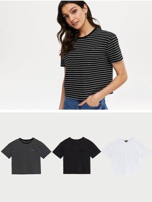 New Look 3 Pack Boxy Tees - Print