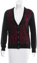 Michael Kors Lace-Accented Cashmere Cardigan w/ Tags