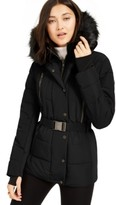 Michael Kors Michael Active Belted Faux-Fur-Trim Puffer Coat