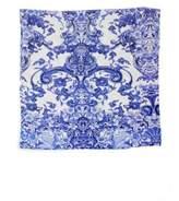 Roberto Cavalli Azuleyos Printed Flat Cotton Sateen Sheet
