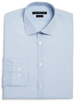 John Varvatos Small Gingham Check Stretch Slim Fit Dress Shirt