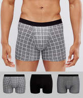 New Look New Look Trunks In Black Pattern 3 Pack