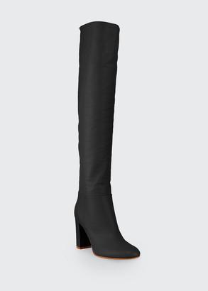 Gianvito Rossi Napa Glove High Knee Boots