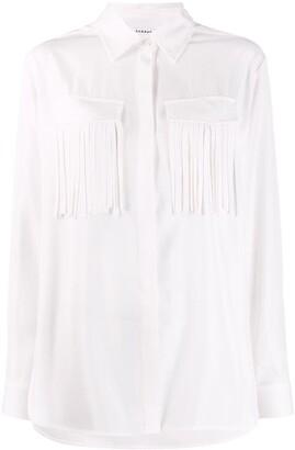 P.A.R.O.S.H. Fringed Long Sleeve Shirt