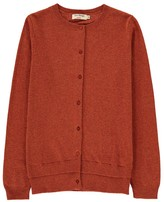 Nice Things Cashmere and Wool Double Rib Trim Cardigan