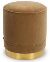 Kim Salmela Piper Stool - Nutmeg Velvet frame, polished brass; upholstery, light brown