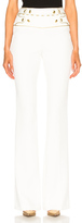 Pierre Balmain Slim Flare Pant in White.