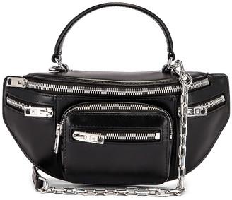 Alexander Wang Attica Soft Mini Top Handle Bag in Black   FWRD