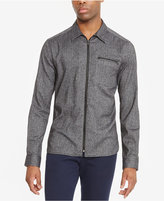 Kenneth Cole Reaction Men's Herringbone Zip-Front Shirt
