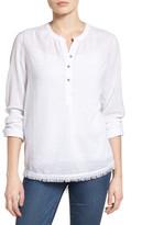 Caslon Fringe Hem Cotton Tunic (Regular & Petite)