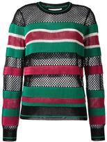 Etoile Isabel Marant striped jumper - women - Polyester/Viscose - 38