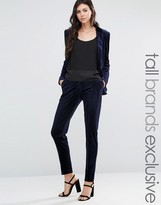 Fashion Union Tall Velvet Suit Pant Co-Ord