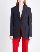 Calvin Klein Wall Street single-breasted wool jacket