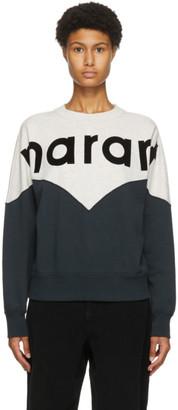 Etoile Isabel Marant Black and Grey Houston Logo Sweatshirt