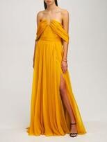 Thumbnail for your product : ZUHAIR MURAD Chiffon Strapless Long Dress