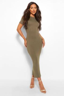 boohoo Basic Short Sleeve Midaxi Dress