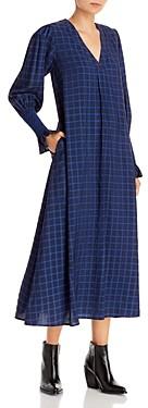 Resume Ane Checked Print Maxi Dress