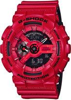 G-Shock Men's Analog-Digital Glossy Red/Black Dual Layer Resin Strap Watch 51x55mm GA110LPA-4A