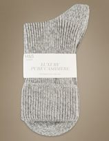 Marks and Spencer Luxury Pure Cashmere Heavyweight Ankle Socks