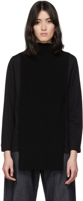 Y's Ys Black Knit Apron Turtleneck