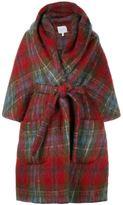 DELPOZO tartan robe coat