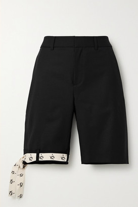 Monse Canvas-trimmed Stretch-wool Shorts