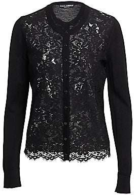 Dolce & Gabbana Women's Lace Front Cardigan