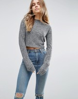 Asos Top With Super Long Sleeves On Textured Rib