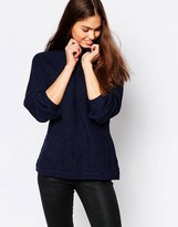Minimum High Neck Ribbed Sweater