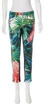 Roberto Cavalli Tropical Print Skinny Jeans