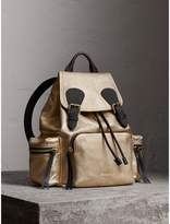Burberry The Medium Rucksack in Metallic Deerskin