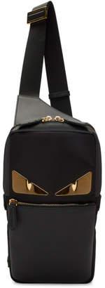Fendi Black Bag Bugs Golden Messenger Bag
