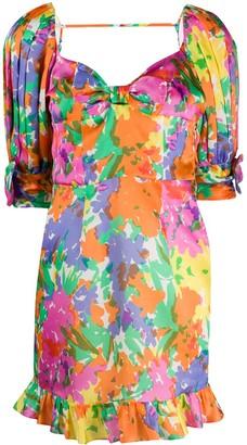 Alessandra Rich Floral-Print Mini Dress