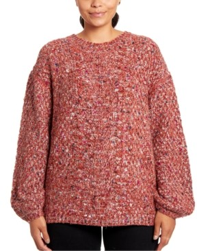 Joseph A Marled-Knit Oversized Sweater