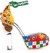 Dolce & Gabbana Carretto Siciliano print pumps - women - Cotton/Leather/Viscose - 37