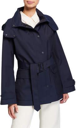 Loro Piana Techno Water Proof Hooded Short Trench Coat