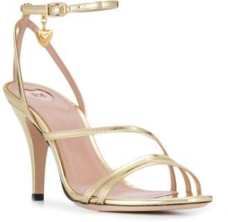 Escada heeled heart charm sandals