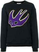 McQ by Alexander McQueen swallow appliqué sweatshirt - women - Cotton - XXS