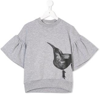 Ioana Ciolacu Kids bird print T-shirt