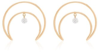 PERSÉE 18kt Yellow Gold Crescent Moon Earrings