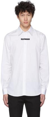 Givenchy White Logo Tape Shirt