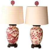 One Kings Lane Vintage,  Pink/white/Shade, White, In Stock