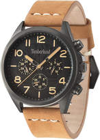 Timberland Men's Brant Light Brown Leather Strap Watch 45x53mm TBL14844JSU02