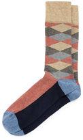 Neiman Marcus Diamond Millerighe Crew Socks