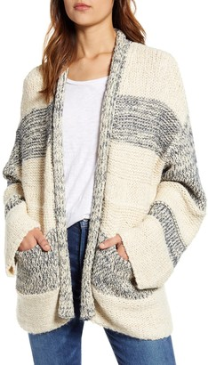 Tommy Bahama Striped Open Front Cardigan