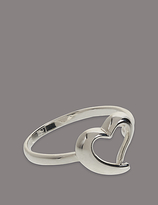 Autograph Sterling Silver Heart Ring