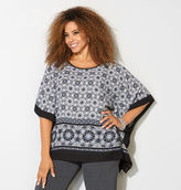 Avenue Medallion Border Poncho